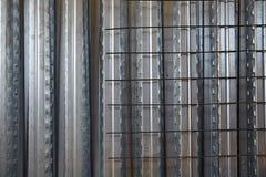 Reinforced concrete slab sheet metal formwork Royalty Free Stock Photos