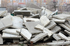 Reinforced Concrete Slabs Royalty Free Stock Photo