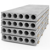 Reinforced concrete slabs laid in a stack Stock Photography