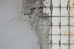 Reinforced concrete walls within the styrofoam. Technology reinforced concrete walls within the styrofoam stock photo