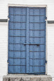 Reinforced Iron Door with Rivets and Security Bolt Royalty Free Stock Photography