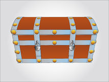 Reinforced metal chest  illustration Stock Photography
