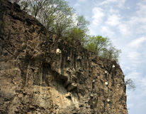 Reinforced Rock Cliff Face Stock Photos