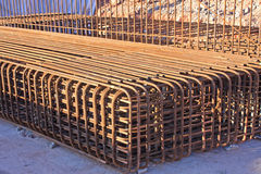 Reinforced steel bars Stock Photo