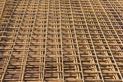 Reinforced steel in construction Royalty Free Stock Photo