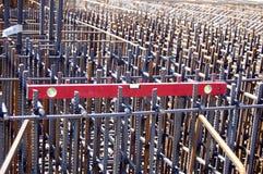 Reinforced steel rods Stock Image