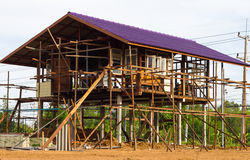 Reinforced steel structure houses Royalty Free Stock Photo