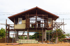 Reinforced steel structure houses Stock Photography