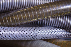 Reinforced Vacuum Hoses Royalty Free Stock Photos