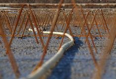 Reinforcement. Foundation for housing is ready for the concrete Royalty Free Stock Photography