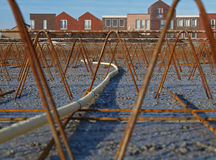 Reinforcement. Foundation for housing is ready for the concrete Royalty Free Stock Image