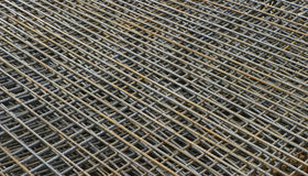 Reinforcement. Pile of reinforcement grids on an construction site royalty free stock photo