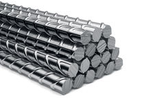 Reinforcement bars stack isolated Royalty Free Stock Photos