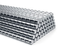 Reinforcement bars stack  Royalty Free Stock Photography