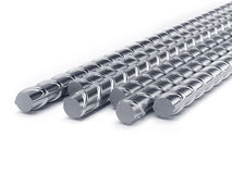 Reinforcement bars stack  Stock Image