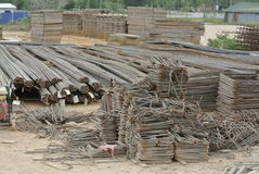 Reinforcement bars - Steel rods or bars used to reinforce concrete Royalty Free Stock Image