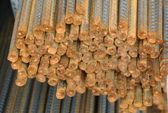 Reinforcement bars - Steel rods or bars used to reinforce concrete Royalty Free Stock Photography