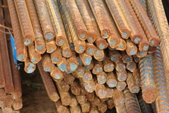 Reinforcement bars - Steel rods or bars used to reinforce concrete Stock Images