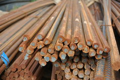 Reinforcement bars - Steel rods or bars used to reinforce concrete Royalty Free Stock Photo