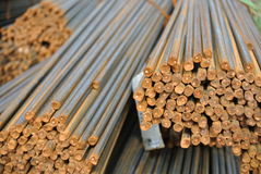 Reinforcement bars - Steel rods or bars used to reinforce concrete Stock Photos