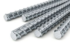 Reinforcement bars. On white background Stock Photography