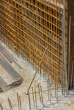 Reinforcement metal framework for new construction foundation Stock Photos