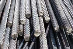 Reinforcement steel bars stock image