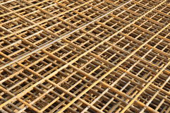 Reinforcement steel mats 4. Reinforcement steel mats slightly rusted Stock Photos