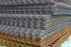 Reinforcement steel mesh background 3 Stock Photo
