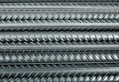 Reinforcing bar. The pattern of reinforcing bar Royalty Free Stock Photos