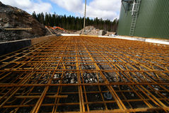 Reinforcing bar in a construction site Royalty Free Stock Photography