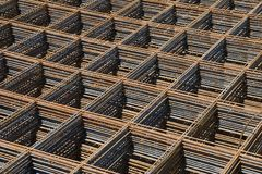 Reinforcing bar mesh Stock Photo