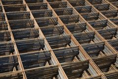 Reinforcing bar mesh Stock Image