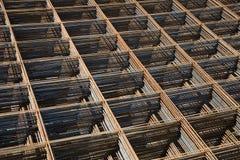 Reinforcing bar mesh Stock Image