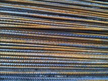 Reinforcing bars from hot-rolled steel for concrete reinforcement stock photo