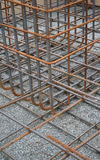 Reinforcing steel. Steel bars for reinforcing concrete Stock Photo