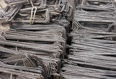 Reinforcing steel background Stock Image