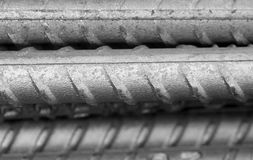Reinforcing steel bar for construction Royalty Free Stock Image