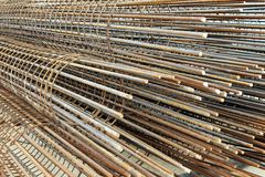 Reinforcing Steel Bar and Rods Royalty Free Stock Photography