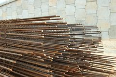 Reinforcing Steel Bar and Rods Stock Photography