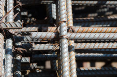 Reinforcing steel bars for building Stock Photography