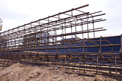 Reinforcing steel bars for building armature Royalty Free Stock Image