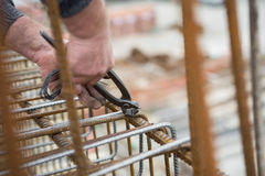 Reinforcing steel bars construction Stock Images