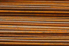 Reinforcing steel bars or rebar background Stock Photo