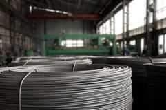 Reinforcing steel bars on roll. Royalty Free Stock Images