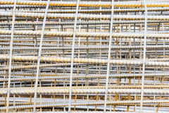 Reinforcing Steel Bars Used in Construction Site Royalty Free Stock Images