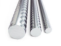 Reinforcing steel. 3d Illustrations on a white background Royalty Free Stock Photos