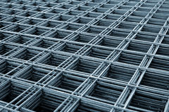 Reinforcing steel mesh Royalty Free Stock Image