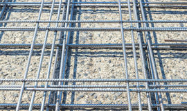 Reinforcing steel mesh Royalty Free Stock Photo