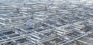 Reinforcing steel mesh Stock Photo